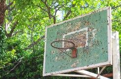 Rocznik koszykówki kosz Zdjęcie Stock