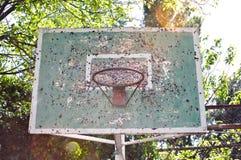 Rocznik koszykówki kosz Obraz Royalty Free
