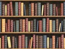 Rocznik książki na półka na książki Stare książki taflowali bezszwowego tekstury bac Zdjęcia Royalty Free