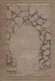 Rocznik książkowej pokrywy tekstura Zdjęcia Stock