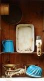 Rocznik kuchni wyposażenie Obrazy Royalty Free