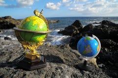 Rocznik kul ziemskich planety ziemia Zdjęcia Royalty Free
