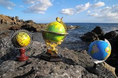 Rocznik kul ziemskich planety ziemia Zdjęcie Stock