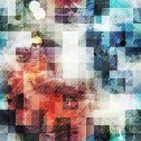 Rocznik kwadratowa bezszwowa tekstura z grunge skutkiem Zdjęcie Stock