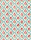 Rocznik kwiecistej tapety róży powtórki wzór Zdjęcia Stock