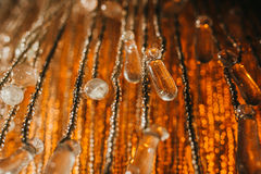 Rocznik lampy krystaliczni szczegóły Zdjęcie Stock