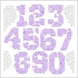 Rocznik liczby ustawiać w grunge stylu Zdjęcia Royalty Free