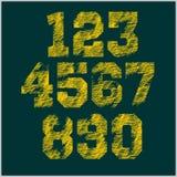 Rocznik liczby ustawiać w grunge stylu Obrazy Stock