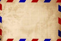 Rocznik lotniczej poczta koperta royalty ilustracja