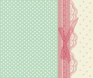 Rocznik ślubnej karty różowy wektor Zdjęcia Royalty Free