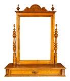 Rocznik lustrzany i opatrunkowy stół, odosobniony Zdjęcia Royalty Free