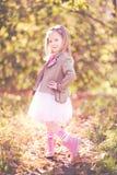 Rocznik mała dziewczynka Zdjęcia Royalty Free