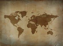 Rocznik mapa Fotografia Royalty Free