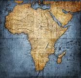Rocznik mapa Afryka Obrazy Royalty Free