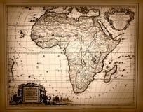 Rocznik mapa Afryka Obraz Stock