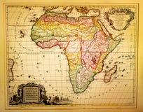 Rocznik mapa Afryka Fotografia Stock