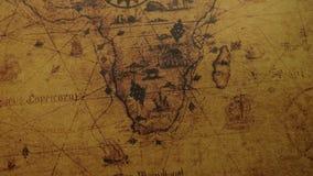 Rocznik mapa Afryka kontynenty zbiory wideo