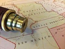 Rocznik mapa II Obrazy Stock
