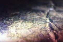 Rocznik mapy zakończenie obraz royalty free