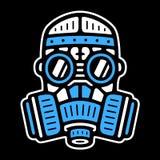 Rocznik maska gazowa ilustracji