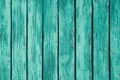 Rocznik mennicy zieleni drewniany tło Stara wietrzejąca zieleni deska struktura wzór Obraz Royalty Free
