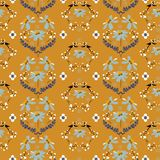 Rocznik miękka część i delikatny dzikiego kwiatu bezszwowy wzór w miarowym powtórka projekcie dla mody, tapety, tkaniny, sieci i  royalty ilustracja