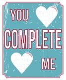 Rocznik miłości plakat Obrazy Royalty Free