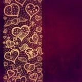 Rocznik miłości tło z koronkowym ornamentem. royalty ilustracja