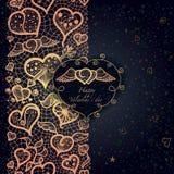 Rocznik miłości tło z koronkowym ornamentem. ilustracji