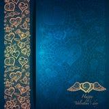 Rocznik miłości tło z koronkowym ornamentem. Fotografia Royalty Free