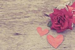 Rocznik miłości valentine Fotografia Stock