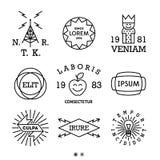 Rocznik minimalne etykietki ilustracji
