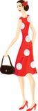 rocznik modna kobieta ilustracja wektor