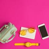 Rocznik mody girly rzeczy Fotografia Stock