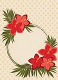 Rocznik mody gratulacyjna karta z poślubników kwiatami ilustracja wektor