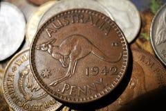 Rocznik moneta Obraz Royalty Free