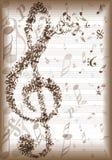 Rocznik muzyka zauważa tło ilustracji