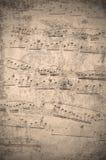 Rocznik muzyki notatki Zdjęcie Royalty Free