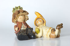 Rocznik niemiec zabawka przyćmiewa z kukurudzą Obraz Stock