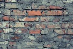 Rocznik niszczący cementowy ściany z cegieł grunge Szary ściana z cegieł cementu tekstury tło Rocznik czerwonej ściany z cegieł p obrazy royalty free