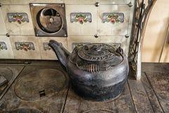 Rocznik obsady żelaza czajnik obrazy stock
