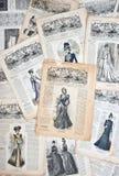 Rocznik odzież. Mody nostalgiczny tło Obraz Royalty Free