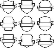 Rocznik odznaka i etykietka set royalty ilustracja