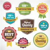 Rocznik odznaki biznesowe etykietki ustawiać ilustracja wektor
