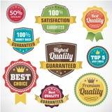 Rocznik odznaki biznesowe etykietki ustawiać Obraz Royalty Free