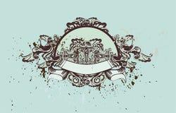 rocznik ornamentu dekoracyjny royalty ilustracja