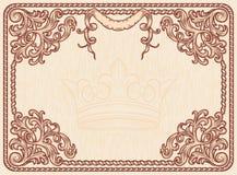 Rocznik ozdobna rama Obraz Royalty Free