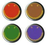 rocznik pin odznaki Zdjęcie Stock