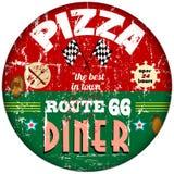 Rocznik pizzy znak Zdjęcie Royalty Free