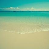 Rocznik plażowa scena Obrazy Stock